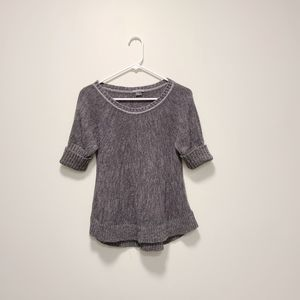 ARMANI EXCHANGE Grey Knit Top Small